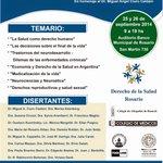 """#Septiembre """"Jornadas Rosarinas de Derecho de la Salud"""" http://t.co/QHabkk2ei8 http://t.co/ftw7aDcy6O Inscripción s/c cc @carinamazzeo"""