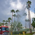 CHECK THIS OUT! Lightning hit a palm tree that caught fire in Encinitas! #sandiegowx @10News http://t.co/YnKhtTCRVK