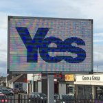 RT @Indy4Scotland: Electronic sign on Whitletts Road Ayr. Different #Yes messages every day until 19th September. http://t.co/g8FZNA9JJ0