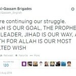 "Please grant their wish MT @IDFSpokesperson: Hamas tweet: ""Jihad is our way & death for Allah our most exalted wish."" http://t.co/JYmWl1teNO"