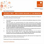 For your safety, we have put these measures in place at our branches. Please be informed & RT #GTBankCares http://t.co/QoXgCRui2l