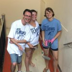 Painting @ universal school for @UWBEC #DOC2014. Love the unique take on the shirts by each team member. http://t.co/JJfQoQNUaq