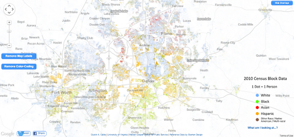 Here's the racial distribution of #Dallas. Notice any patterns? http://t.co/dVRSDMRvam