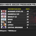 RT @MVCsports: The 2014 Men's Soccer Preseason Poll. #MVCSoccer http://t.co/eLRiqgGxp5