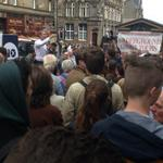 Brilliant turnout on the Royal Mile to listen to @JimMurphyMP on his #100streets tour. #indyref http://t.co/XlZbmQSRmS