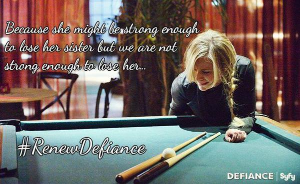 #RenewDefiance Because Amanda might be strong but we aren't @juliebenz http://t.co/9HfVgZR5d1