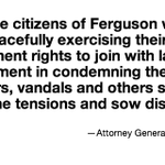RT @WendellPierce: https://t.co/8Z6y1nwrpb Read Attorney General Eric Holders message to the people of Ferguson http://t.co/2XsVEyCnLU http://t.co/1C06BCuGLx