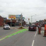 First wedge of green paint on Cannon at Sherman #HamOnt http://t.co/U5Ec74SS6U