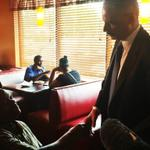 RT @ryanjreilly: Holder at a meeting at a restaurant in #Ferguson http://t.co/OVcC5NVaZk
