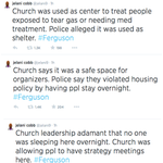 .@jelani9 on the ground in #ferguson reports that police are raiding a church with ASSAULT WEAPONS. http://t.co/20hqb3v872