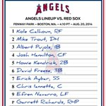RT @Angels: The #Angels hand the ball to @GRICHARDS26 today at Fenway Park. http://t.co/78LCt2BO7o