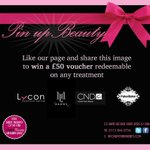 RT @mypinupbeauty: #yorkshirehour Fantastic competition in #Leeds Win £50 voucher for any beauty treatment http://t.co/GOJwaXnfOP http://t.co/lu3pKBxWiv