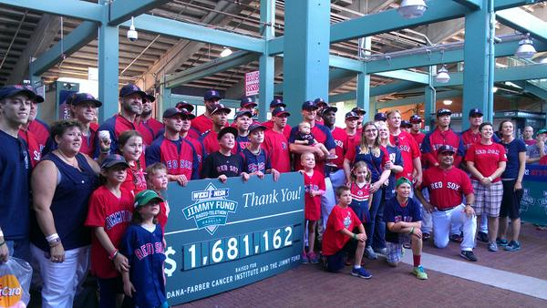 Thank you to the whole @RedSox team for coming down and showing your support! #RedSoxNation #KCANCER http://t.co/GhUaRLODaj