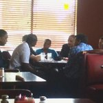Holder meeting with residents in #Ferguson this afternoon http://t.co/2JbAiEm7pO