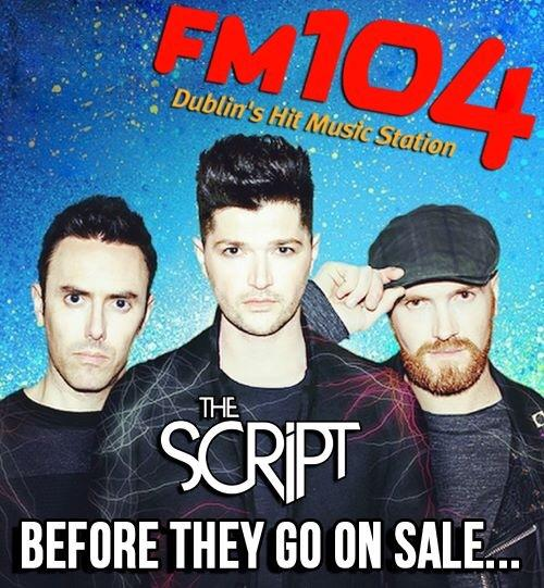 Want to win @thescript tickets? Retweet to get in the draw!  #FM104ScriptTickets #WinThemBeforeYouCanBuyThem http://t.co/KPFgOuBitV