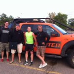 Wednesday night run capped off by meeting Tornado Hunter @canadogreg & crew outside #CMTtornadoHunters http://t.co/nSW6GNMLGI