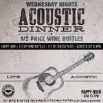Chill time #SanDiego // #HappyHour now + #Acoustic Dinner at 6 // 1/2 Wine Bottles & Cheese plates // @EaterSanDiego http://t.co/RxDLZAdldR