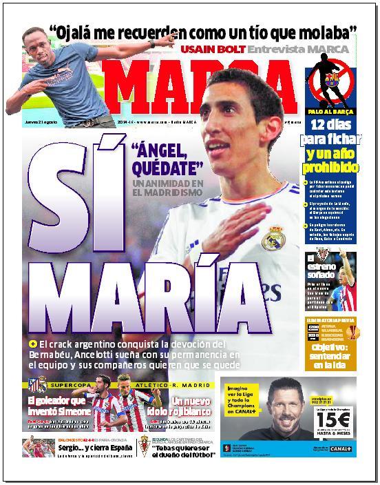 #LaPortada 'Sí María' http://t.co/fsg7vYRrnH