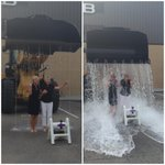 .@KTVBCarolyn and @deesarton are CHAMPS! #ALSIceBucketChallenge #KTVBehindthescenes http://t.co/nJlRjTm8jb