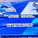 So, whats happening in the Ravens, uh, White Sox game...? http://t.co/NoadFvy6A7