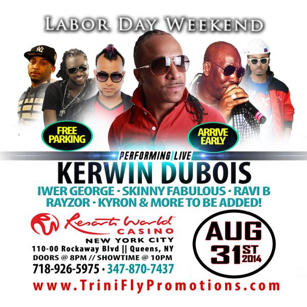 Look out @kerwindubois  live #ResortCasino LaborDay Sun Aug 31. Don't Stick #GOBigGOVIP http://t.co/V5iNyAiPgW http://t.co/MzPJlP0OJD