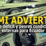 Déficit y peores condiciones externas para #Ecuador, la advertencia del FMI » http://t.co/Sept834pTO http://t.co/viNV1frZHb
