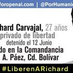 #21S El no es una cifra, es Richard Carvajal: 101 días privado de libertad. #LiberenARichard http://t.co/Jm1Fq7skdY