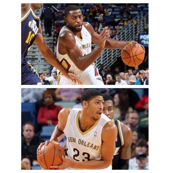I think my bros @TyrekeEvans & @AntDavis23 will be the Sickest duo in the @NBA this season! #printdat http://t.co/opwKFcC6Tj