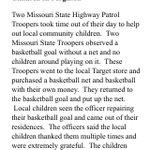 Well this is a nice story from #Ferguson, via the Missouri Highway Patrol http://t.co/fBr9jSdkEg