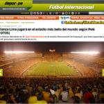La prensa peruana destaca lo que dijo Pelé. Alianza Lima se dará el lujo de jugar en el glorioso Monumental de BSC. http://t.co/IiUDwGOsm7