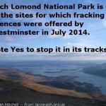 """""""@pamchugh1: Im voting yes to stop Westminster from ripping our countryside to bits with Fracking. #YesBecause http://t.co/41zODlGjrn"""""""
