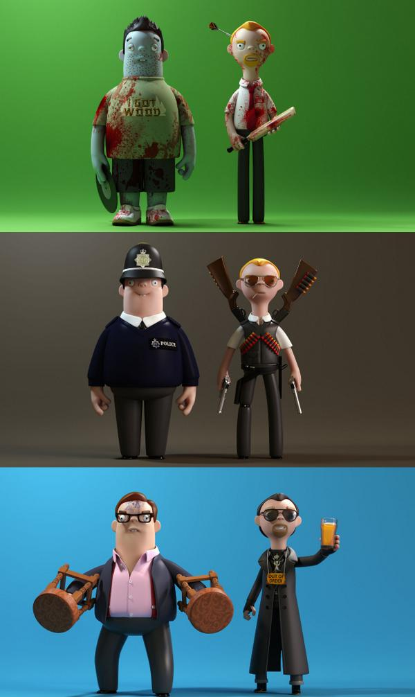An homage to the Three Flavours Cornetto Trilogy by @ALargeEvilCorp @simonpegg @nickjfrost http://t.co/tQ9o65mrHN