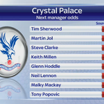 Tim Sherwood is now the favourite to succeed Tony Pulis & take over at Selhurst - @SkySportsAmy has the latest #SSNHQ http://t.co/oPi9dpqLYt