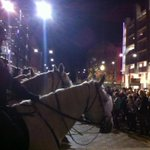RT @AlanMurrellTEN: Police horses to control protesters at Adelaide Uni protest during PM speech. @TenNewsADEL http://t.co/MY5sqc61L3