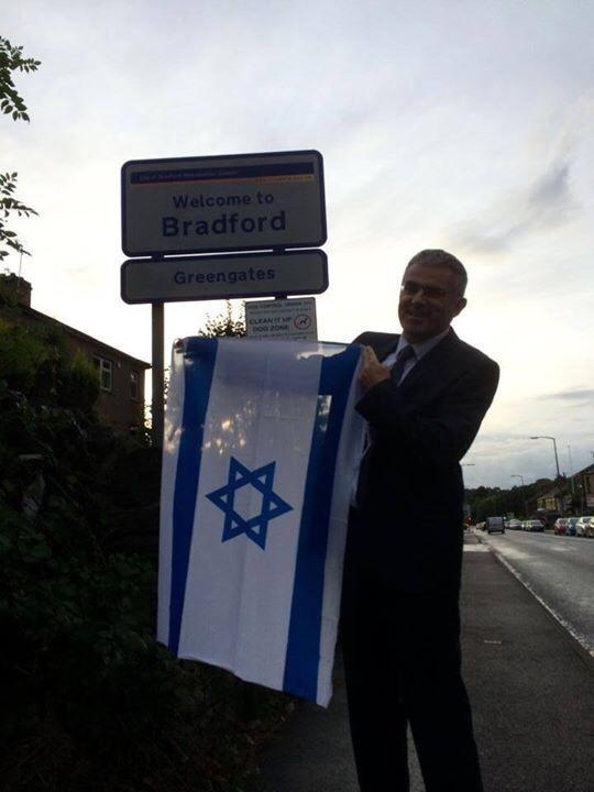 Rabid racist MP George Galloway said his constituency will be Israel free. So the UK Israel Ambassador did this. http://t.co/HELWJpH4y0