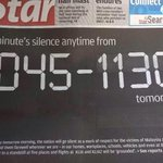 RT @Syahiwwah: A minutes silence anytime from 1045-1130am tomorrow. Welcome back MH17 passengers. http://t.co/9l2Xtl4mJl