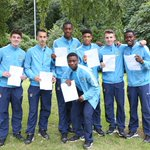 RT @MCFC: RESULTS DAY: Some very proud young City under-18 starlets with their #gcseresults this morning... Well done, lads! http://t.co/yZMzE9M7y9