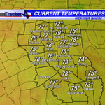 A warm & muggy start across #ETX this morning. Temps widespread in the mid to upper 70s. Highs today in the mid 90s! http://t.co/sEaOYp3Ets