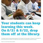 Ferguson-Florissant parents can send children to the library today and tomorrow thanks to #TeachforFerguson http://t.co/OzM6EkhmA0