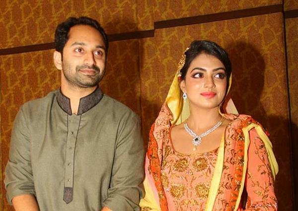 Congrats Malayalam Film Actors Fahad Fazil And Nazriya Nazim