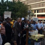 RT @AntonioFrench: Protestors are now outside the St. Louis County Prosecutors office in downtown Clayton. #Ferguson http://t.co/wzetpw1DG4