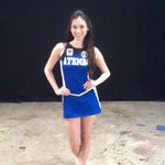 Ateneo courtside reporter @lauralehmann123 strikes a pose in her cheerdance outfit. http://t.co/Y6dmZMHoWx