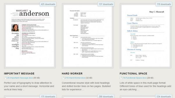 how a good resume looks