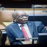 President Zuma in  Parliament earlier #ZumaQuestions http://t.co/bxhxQdS921