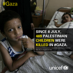 Since 8 July, 469 Palestinian children were killed in #Gaza. http://t.co/LXreEuNmqc