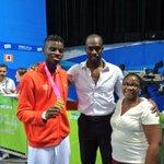 #YOGtaekwondo mens +73kg champion Y. Miangue (FRA) celebrates with his family! #nanjing2014 @youtholympics http://t.co/8j0XAy3xh1