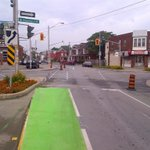 RT @cityofhamilton: Work continues on Cannon St cycle track; rain has slowed the line painting. Signal poles & signs being placed #HamOnt http://t.co/CHTxNe3Svc