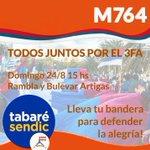 RT @M764uy: Todos Juntos por el #3FA llevá tu bandera, Domingo 24 de agosto 15 hs Rambla y Bvar Artigas @Frente_Amplio http://t.co/HMe6kxADhi
