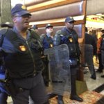 RT @ewnreporter: Police with riot shields arrive at National Assembly, MPs going back in, #EFF MPs still in GD http://t.co/rdq7KJ1bcX