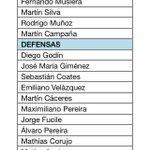 Acá les dejo los convocados de Tabarez para jugar ante Japón y Corea del Sur http://t.co/VrIjp8LpDB